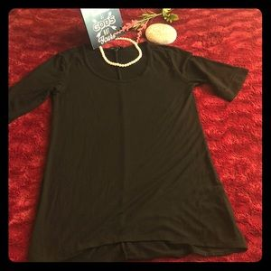 Ladies black minidress /over sized top #A12